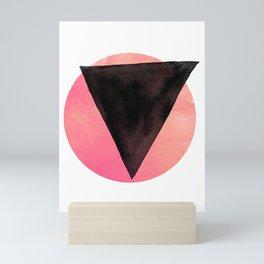 black triangle Mini Art Print