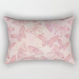 Butterfly Pattern soft pink pastel Rectangular Pillow