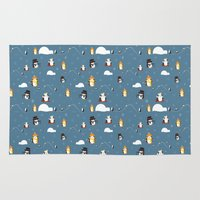 penguins Area & Throw Rugs featuring Penguins by S. Vaeth