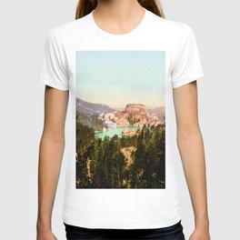 Forest mountains Lake Vintage Scenery T-shirt