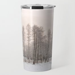 russian snowy trees Travel Mug