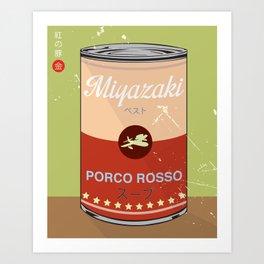 Porco Rosso - Miyazaki - Special Soup Series  Art Print