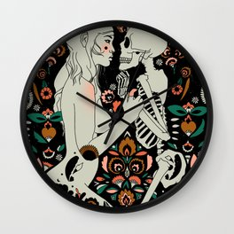 Grit, Pain, Love Wall Clock