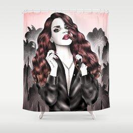 Dark Eden Shower Curtain