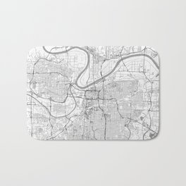 Kansas City Map Line Bath Mat