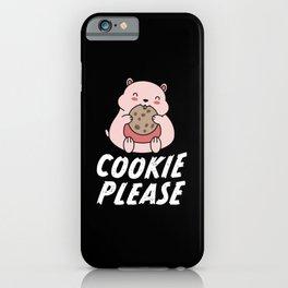 Cookie Please | Cute Kawaii Hamster Gift iPhone Case