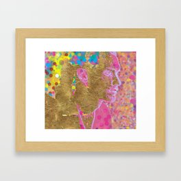 Point Gold Plated Framed Art Print