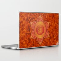 chakra Laptop & iPad Skins featuring Sacral Chakra  by Gypsy Owl Productions