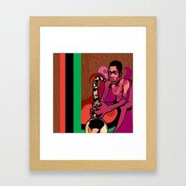 Black President Framed Art Print