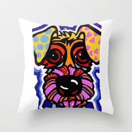 Rover Terrier Dog Airedale Wheaton Lakeland Kerry Schnauzer Fox Puppy Pet Animal Throw Pillow