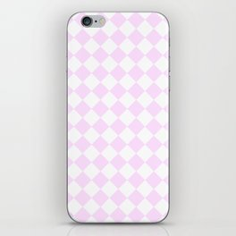 Diamonds - White and Pastel Violet iPhone Skin