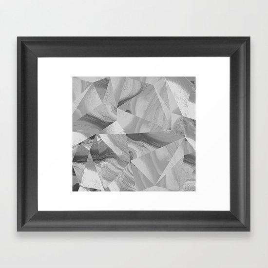 Irregular Marble II Framed Art Print