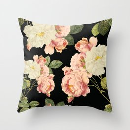 Flora temptation - night Throw Pillow