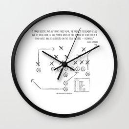 Coach Lombardi Quote Wall Clock