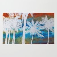 palm trees Area & Throw Rugs featuring Palm Trees by Bonnie J. Breedlove
