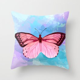 Strawberry Fluff Throw Pillow