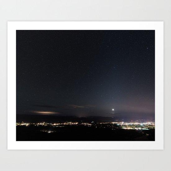 Arizona Desert Night Sky Stars Art Print