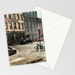 Old Montreal in the Rain Stationery Cards