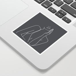 Minimal Line Art of a Woman Sticker