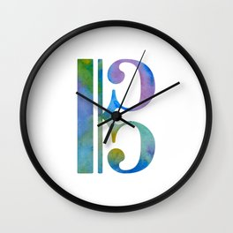 Alto Clef Wall Clock