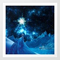 frozen elsa Art Prints featuring Frozen - Elsa by Thorin