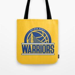 Warriors vintage basketball logo Tote Bag