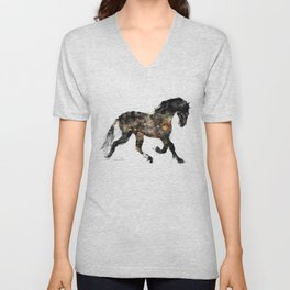 Horse (Distant Galaxy) Unisex V-Neck