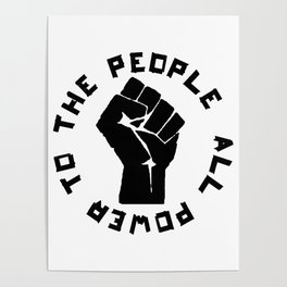 ALL POWER TO THE PEOPLE Panthers Party civil rights Poster