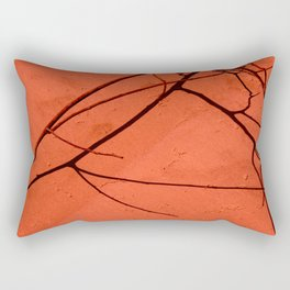 Red sand Rectangular Pillow