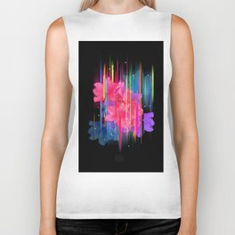 Night Blooming Bouquet Biker Tank