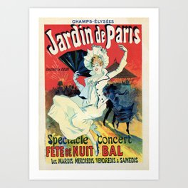 1890 Jardin De Paris Night Party Art Print