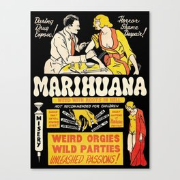Marihuana Marijuana Vintage Movie Canvas Print