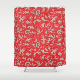 Moonchild TribalCayenne Red Shower Curtain