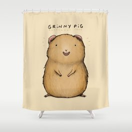 Grinny Pig Shower Curtain