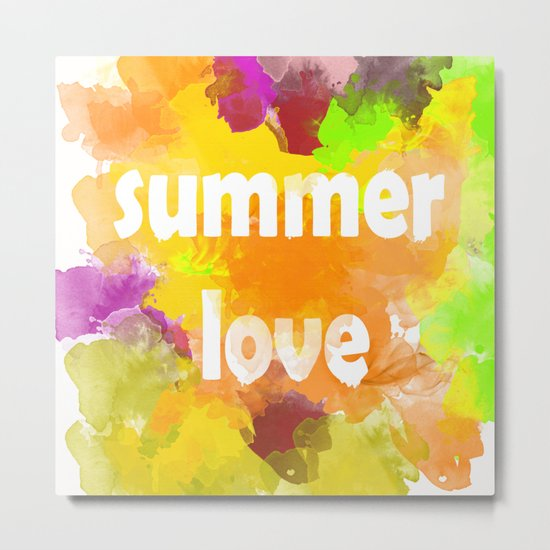 I love summer . Bright colorful design . Metal Print