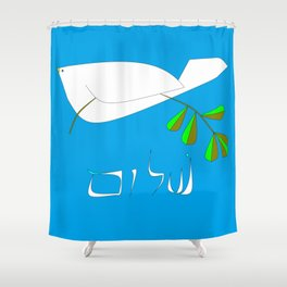 White Dove of Peace, Shalom Shower Curtain