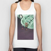 majoras mask Tank Tops featuring Skull Kid Majoras Mask by Aaron Pittman