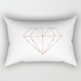 Rose gold foil diamond Rectangular Pillow