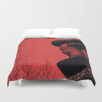 camus Duvet Covers featuring Byronic III by Boris Pelcer