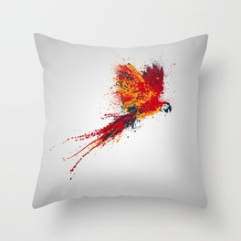 Colorfull parrot Throw Pillow