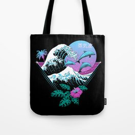 Dolphin Waves Tote Bag