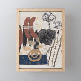 Twigs and symbols Framed Mini Art Print