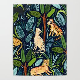Jungle Cats Poster