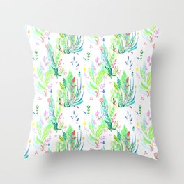 Plants In My Garden Throw Pillow