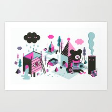 And then the rain came down  Art Print