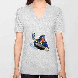 Swashbuckler Ice Hockey Sports Mascot Unisex V-Neck