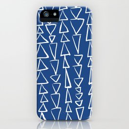 Blue Jazz Triangles iPhone Case