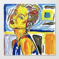 figure in color study Canvas Print