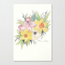 English Spring Garden Canvas Print