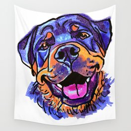 The happy Rottweiler Love of My Life Wall Tapestry